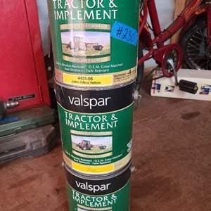 Lot # 230 Valspar Tractor Paint in John Deere Yellow