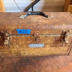 Lot # 231 Craftsman Tools Box W/ Various Tools