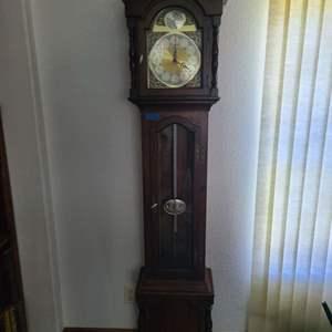 "Lot # 236 Beautiful Trend ""Tempus Fugit"" GrandFather Clock"