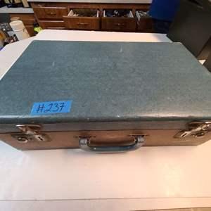 Lot # 237 Vintage Suitcase full of Slides