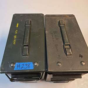 Lot # 238 Lot of 2 Munitions Boxes W/ Making Supplies