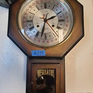 Lot # 239 Regulator Wall Clock