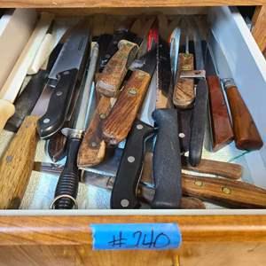 Lot # 240 Lot of Kitchen Knives