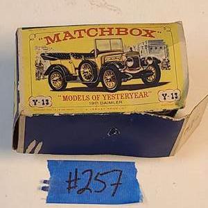 Lot # 257 Matchbox Yesteryear Y13 1911 Daimler - See Description