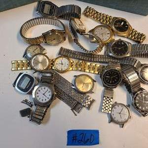 Lot # 260 Lot of Various Watches & Watch Parts