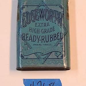 Lot # 268 Vintage Edgeworth Extra High Grade Ready Rubbed Pocket Tobacco Tin - See Description