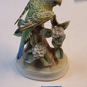 Lot # 274 Parakeet Statue By Andrea (Sadek)