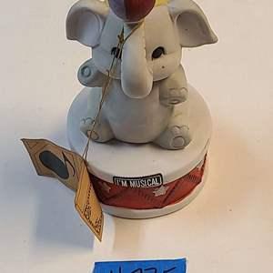 "Lot # 275 ""Born Free"" Elephant Music Box (Unknown Maker)"