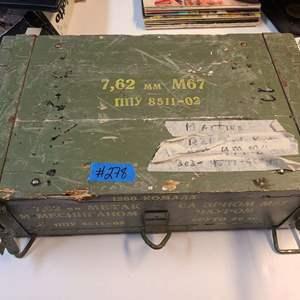 Lot # 278 Munitions Crate W/ Mixed Munitions