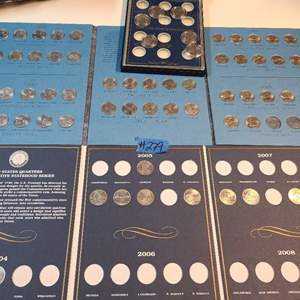 Lot # 279 Lot of Incomplete Coin Collections