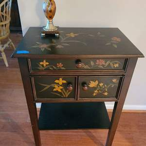 Lot # 13 Antique Style Storage Wood Painted Storage Table (contents not included)
