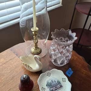 Lot # 14 Lot of Misc Decorative Glassware