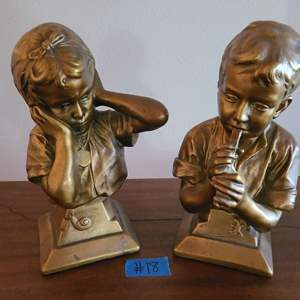 Lot # 18 Lot of 2 Small Figurines by E. Villanis