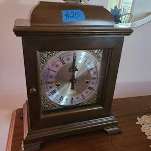 Lot # 20 Free Standing Wood Clock By Du pont Hamilton