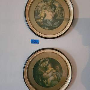 Lot # 26 T HE DONI MADONNA HOLY FAMILY CHILD JESUS BIBLICAL PLates BY MICHELANGELO REPRO