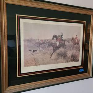 Lot # 30 Framed Lithograph Of A Day's Hunting