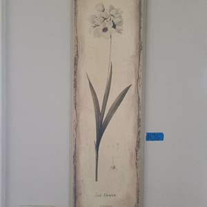 Lot # 35 Floral Wood Picture