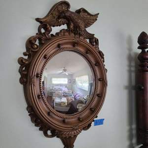 Lot # 39 Decorative Wall Mirror and Vase of Flowers