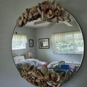 Lot # 40 Hanging Mirror w Sea Shells