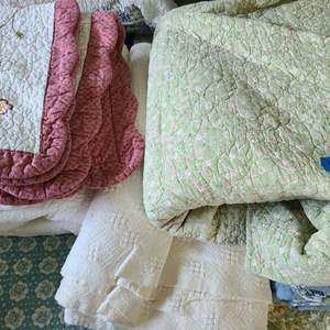 Lot # 51 Small Lot of Store Bought Quilt Blankets
