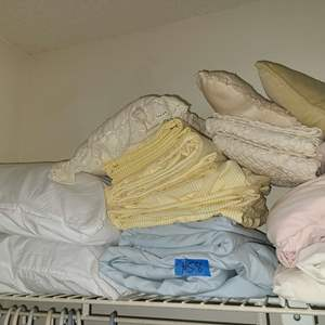 Lot # 58 Small lot of Twin XL Sheet sets and Pillows