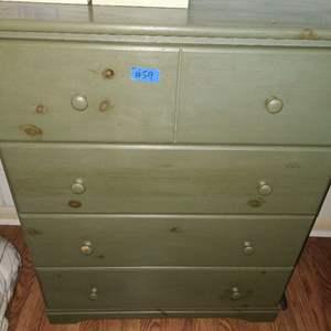 Lot # 59 Green Painted Wood Dresser