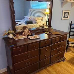Lot # 74 Willett Mid-Century Dresser With Mirror