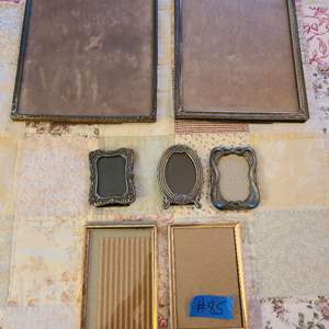 Lot # 85 Lot of Various Size Antique Looking Metal Frames