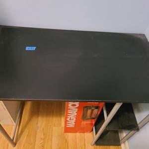 Lot # 93 Light Metal and Wood Sitting Desk