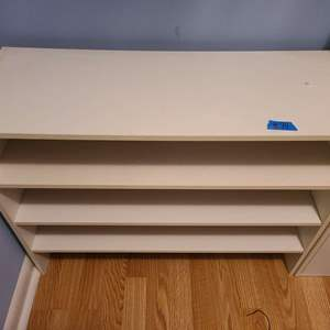 Lot # 94 Set of 2 White Presswood Shelves
