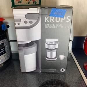 Lot # 102 Krups 10cup Coffee Maker