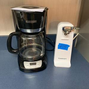 Lot # 115 Black&Decker Coffee Makers & Cuisinart Electric Can Opener