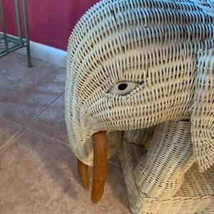 Lot # 128 Wicker Elephant Table