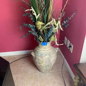 Lot # 146 Decorative Vase W/ Faux Flowers