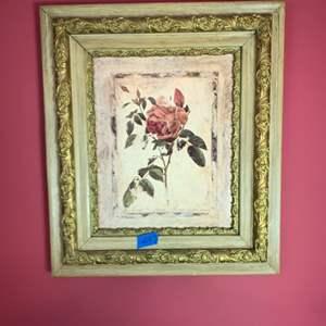 Lot # 147 Framed Rose Picture