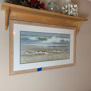 """Lot # 151 Jacqueline Penney """"Sand Piper"""" Framed Lithograph"""