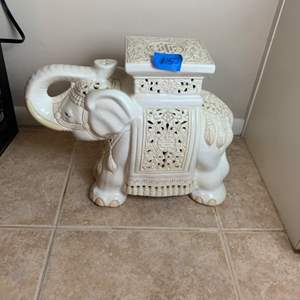 Lot # 157 Heavy Elephant Table?