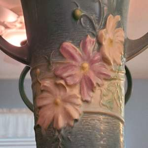 Lot # 185 Roseville Cosmos Floor Vase 958-18
