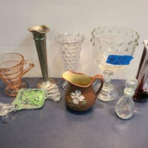 Lot # 210 Lot of Misc. Glass Ware