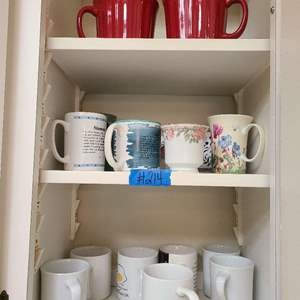 Lot # 214 Lot of Various size Coffe Cups