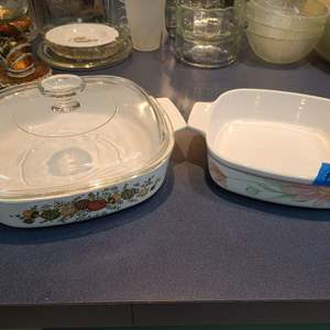Lot # 216 Lot of 2 Corning Ware Baking Dishes