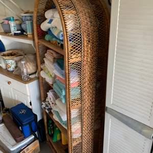 Lot # 226 Tall Rattan Shelf