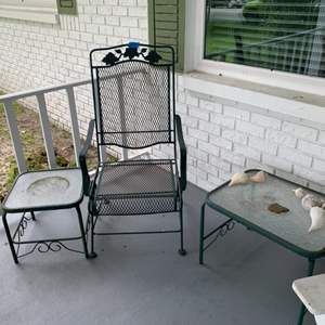 Lot # 242 Outdoor Chair And Tables