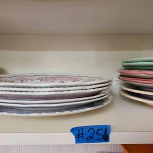 Lot # 256 Lot of Misc Plates