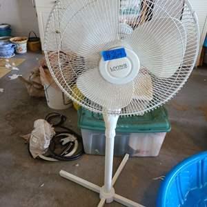 Lot # 267 Living Solutions Standing Floor Fan