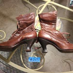 Lot # 273 Pair of Antique Victorian Lace Up Boots
