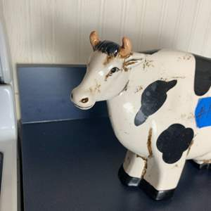 Lot # 275 Vintage ceramic cow statue.