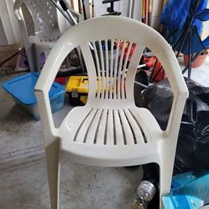 Lot # 548 Plastic Patio Chair