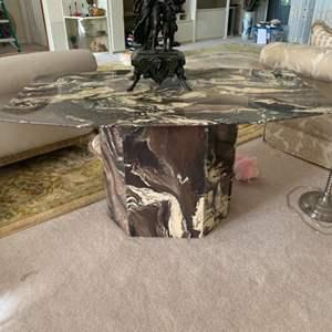 Lot # 5 Unique Granite Table (has Had break and repaired)