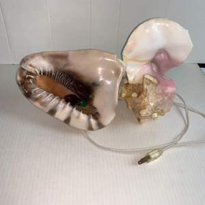 Auction Thumbnail for: Lot # 13 Conch shell  lamp.
